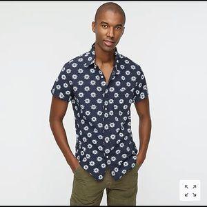 J. CREW Men's Short-Sleeve Secret Wash Shirt